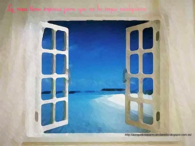 ilustracion de ventana a la playa madrugadas acuaticas