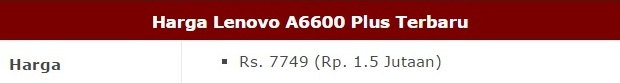 Harga HP Lenovo A6600 Plus Tahun 2017 Lengkap Dengan Spesifikasi, RAM 2GB, Kamera Utama 8MP, Processor Quad Core