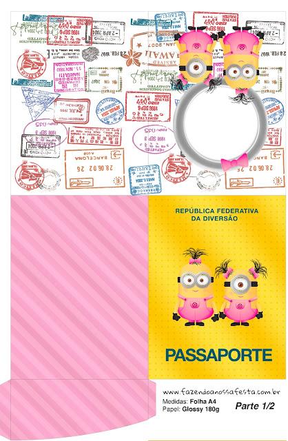 Pasaporte para Imprimir gratis de Minions Chicas