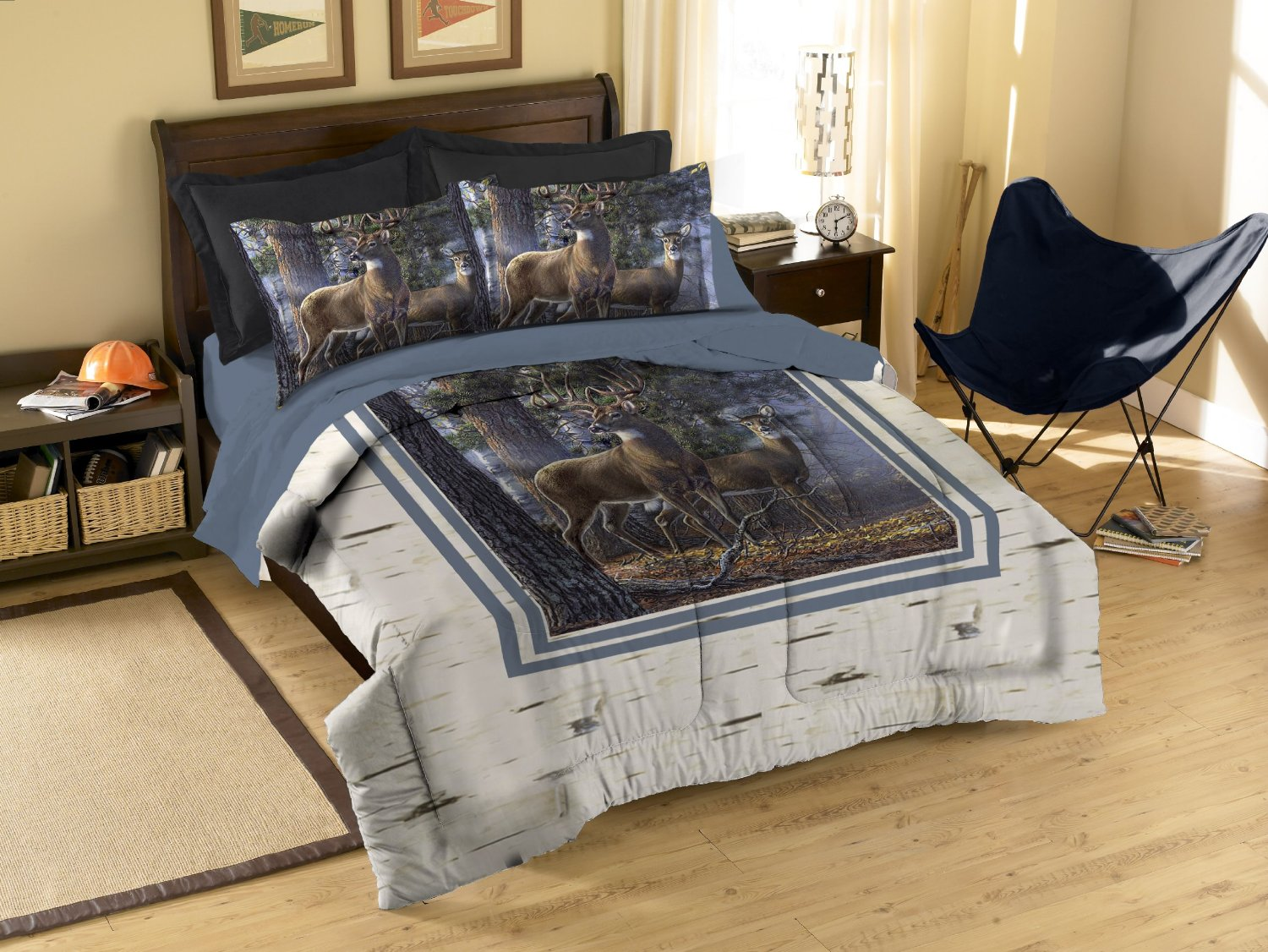 Total Fab: Rustic Whitetail Deer Bedding and Curtains
