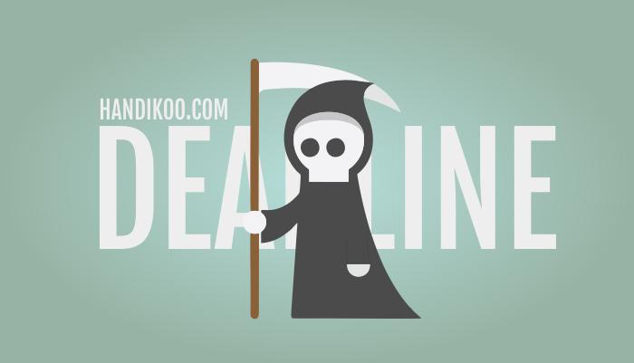 Ini dia 5 tips mengejar deadline yang perlu kamu ketahui. Ingat, jangan lari tapi kejar dan taklukan si deadline! - www.Handikoo.com