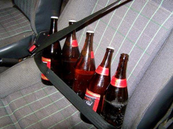 Funny Africa beer car seat belt picture