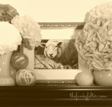 sheep photograph from a craft show gives me encouragement
