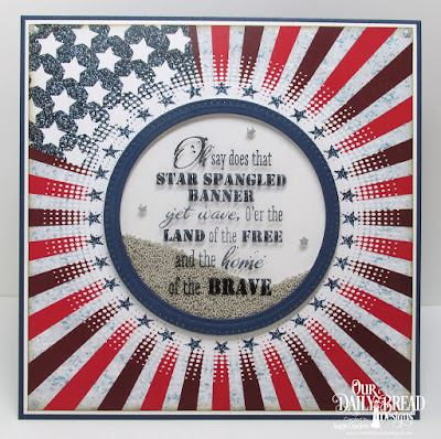 Our Daily Bread Designs Stamp Set: Let Freedom Ring, Paper Collection: Stars and Stripes, Custom Dies: Pierced Circles