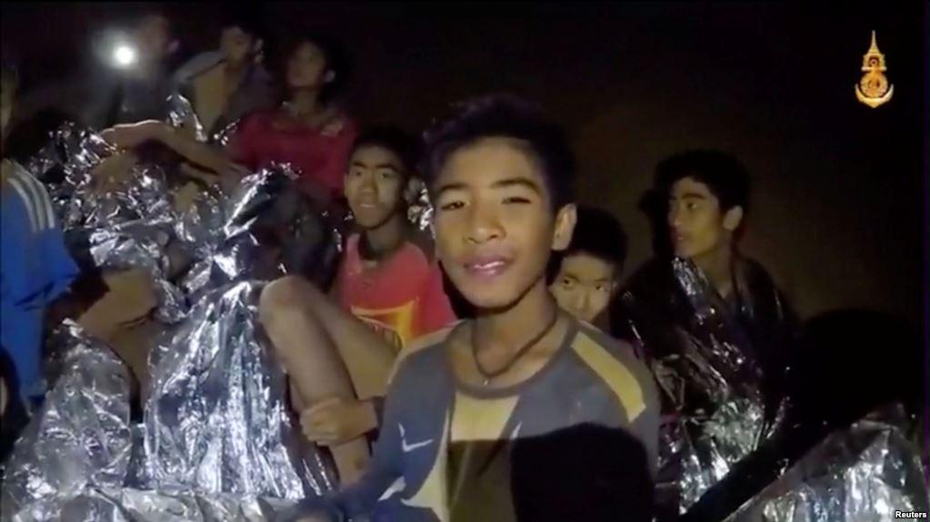 Niños tailandeses estuvieron atrapados en una cueva desde el 25 de junio / REUTERS