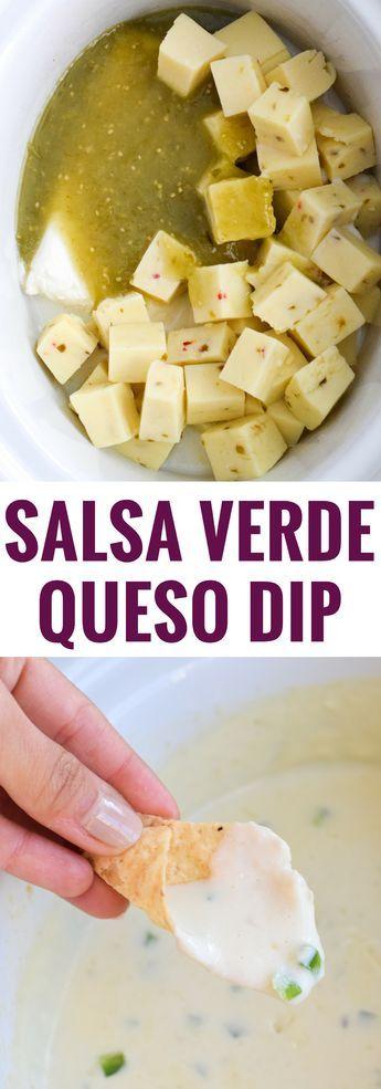 Salsa Verde Queso Dip