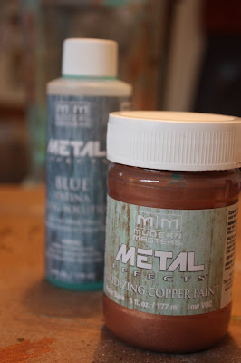 metal effects and oxidizing solution
