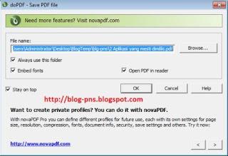 cara konvert ke pdf