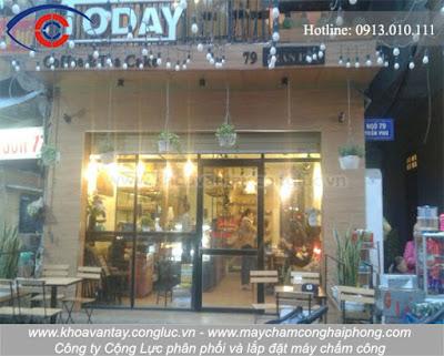 Cửa hàng Today Coffee & Tea cake tại 79 Trần Phú, Hải Phòng.