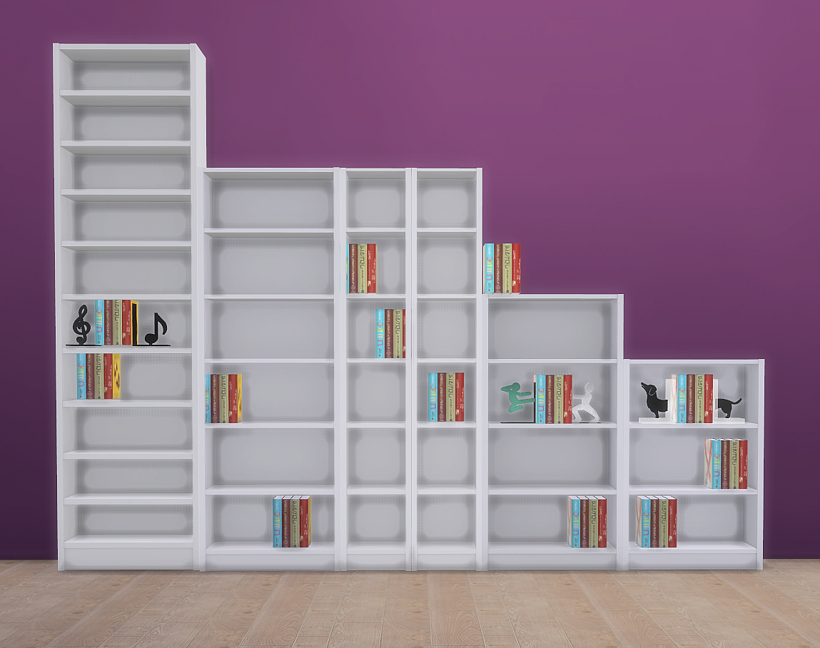 Very Impressive portraiture of My Sims 4 Blog: Bookcases by KSimbleton with #763F48 color and 1149x908 pixels
