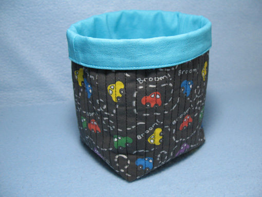Fabric Basket for a Boy ~ Threading My Way