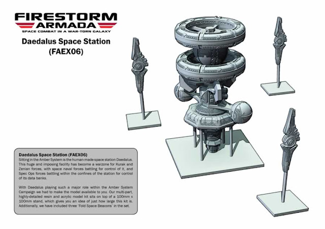 Spartan Games Firestorm Armada Daedalus Space Station