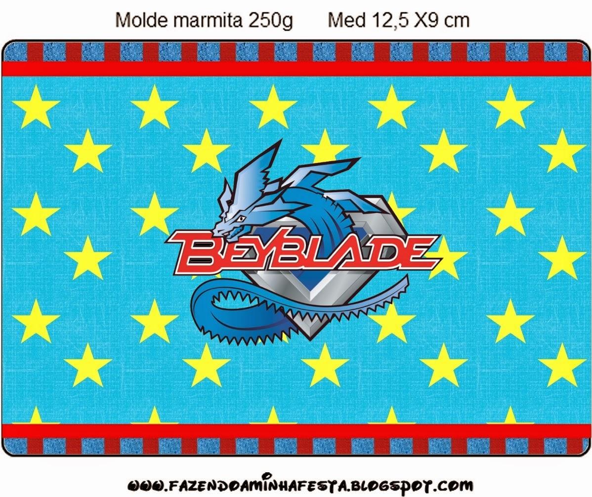 Etiqueta para Imprimir Gratis de Beyblade.