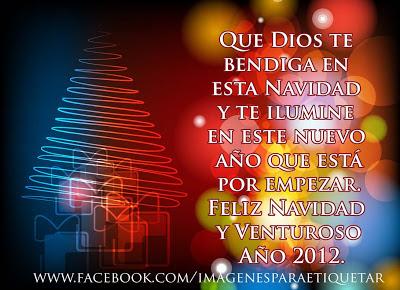 Tarjetas con mensajes de navidad para facebook