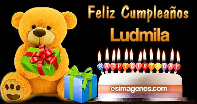 Feliz cumpleaños Ludmila