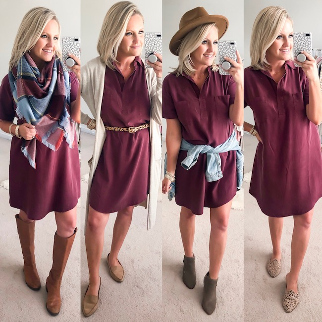Shirt Dress Styled 4 Ways
