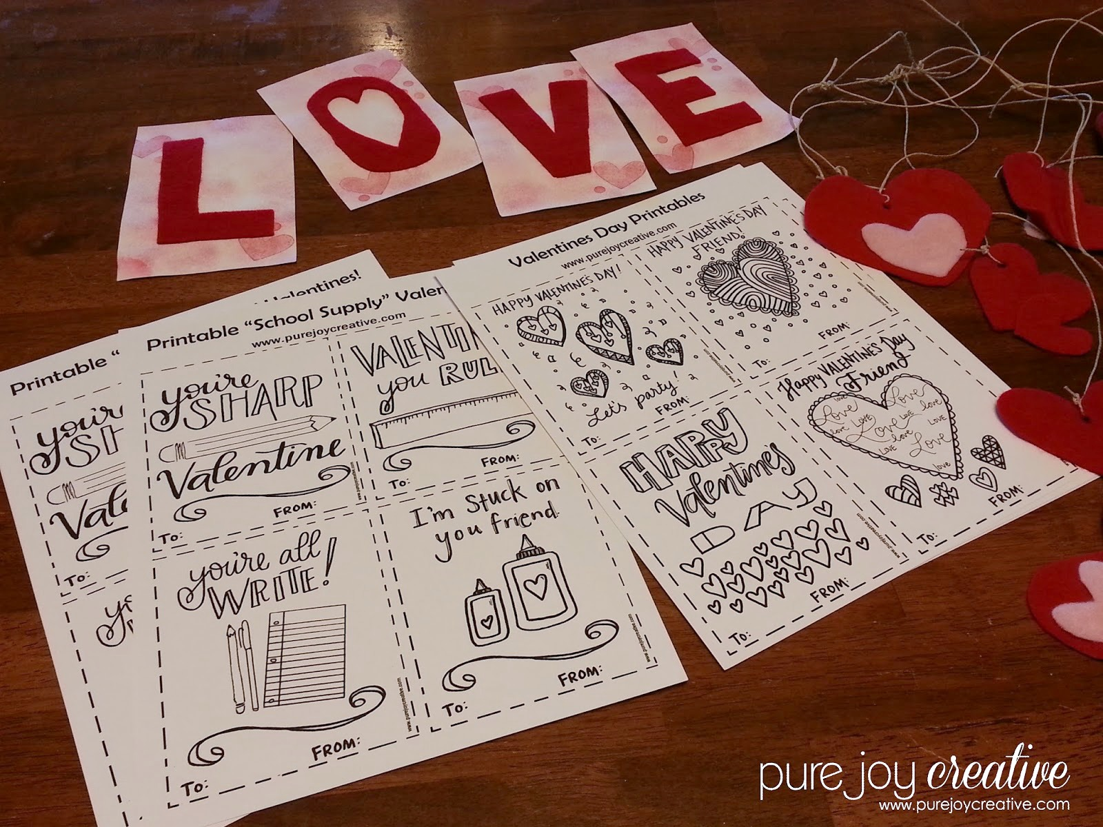 Fun Free Valentine Printables