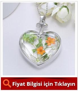 Yaşayan Kolye Turuncu Papatya