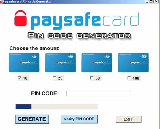 Paysafecard Nummer Generator