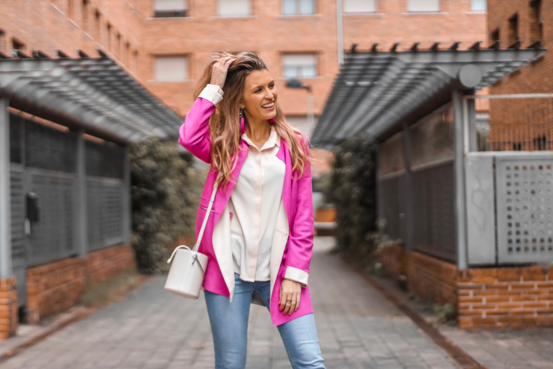 abrigo de verano rosa