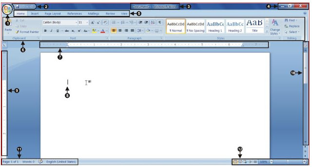 Microsoft Office Word 2007 interface information