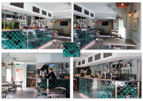 """Clovelly Updates. Refurbished Harbour Bar at the Red Lion Hotel  - """"Traditional with a modern twist"""""""