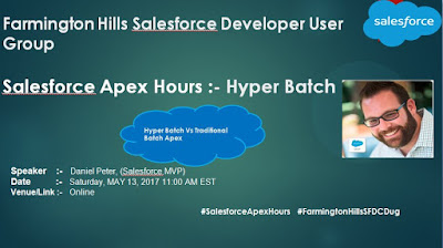 http://amitsalesforce.blogspot.com/2017/05/salesforce-apex-hours-hyperbatch.html