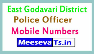 East Godavari District Police Officers Mobile Numbers