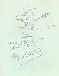 Un dibujo de Angelito que me dedicó Vázquez