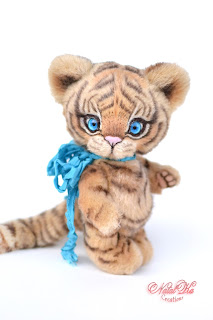 Авторский тигренок тедди, авторский тигр, тедди тигр, тедди с шармом, teddies with charme, NatalKa Creations, artist teddy tiger, tiger teddy ooak, stuffed toy handmade, one of a kind teddy, artist teddy, Künstlerteddy, Künstler Tiger, Teddy, Unikat