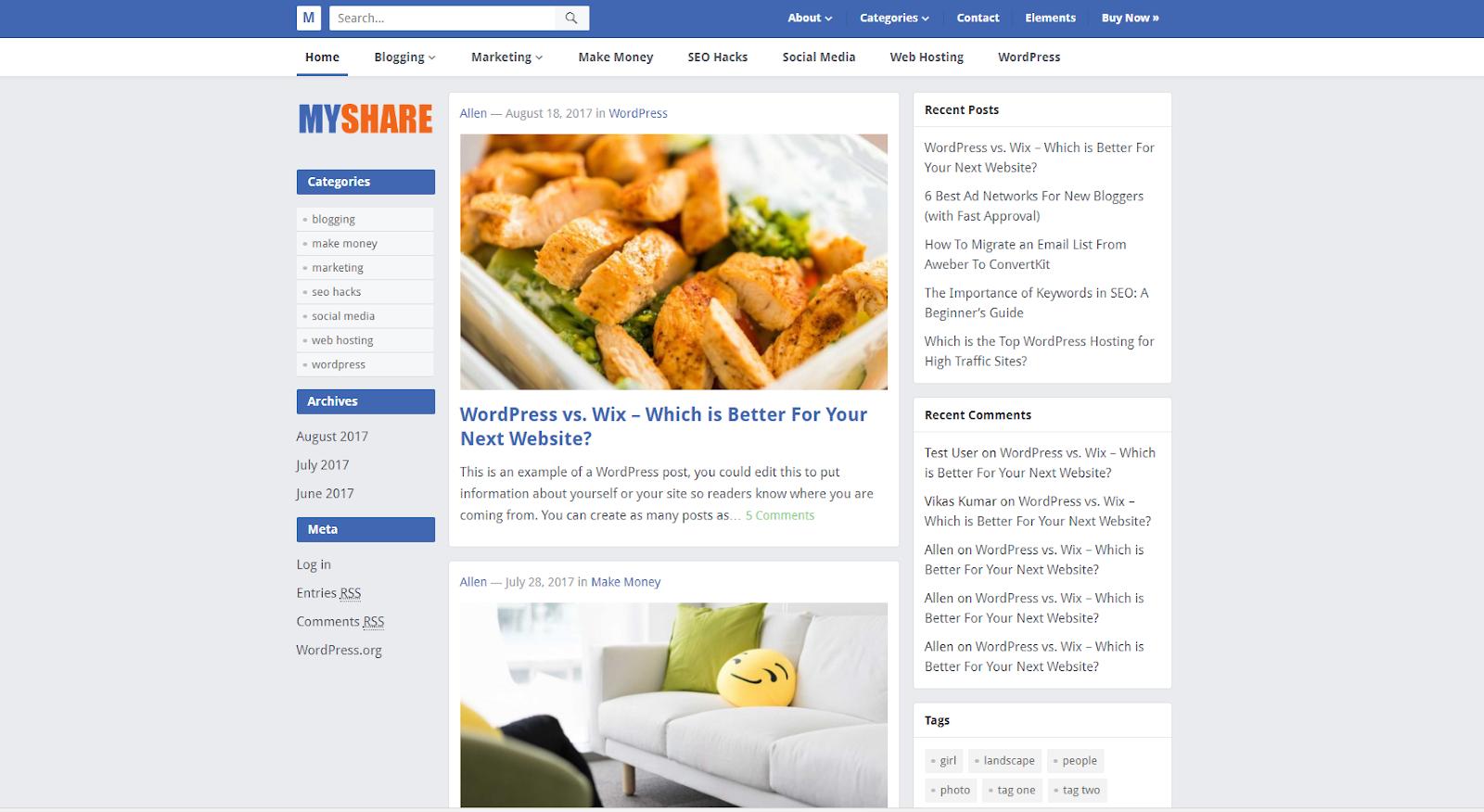 Share Giao Diện MyShare Cá Nhân Giống Facebook