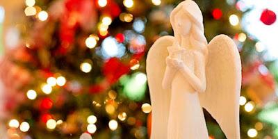 imagem da árvore de Natal e Anjo da Guarda