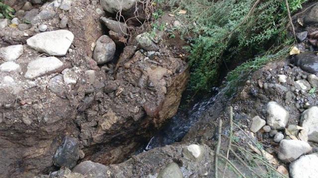 Una grieta gigante engulle por completo un río mexicano