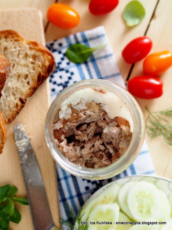 mieso w sosie wlasnym, wieprzowina do chleba, miesiwo w sloiku, konserwa miesna, domowe konserwy, domowe przetwory, do chleba, przetwory miesne