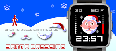 Santa dressing watchface - Pebble Time 2
