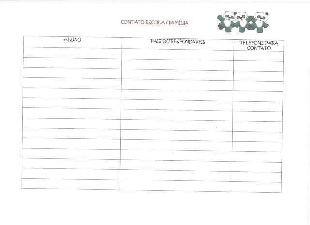 Modelos de Planejamento e Semanário para os Professores