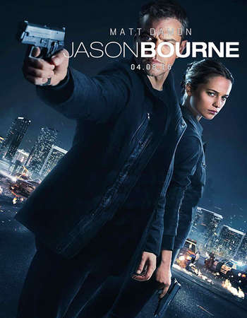 Poster Of Jason Bourne 2016 Dual Audio 600MB HDRip 720p ESubs HEVC Free Download Watch Online downloadhub.in