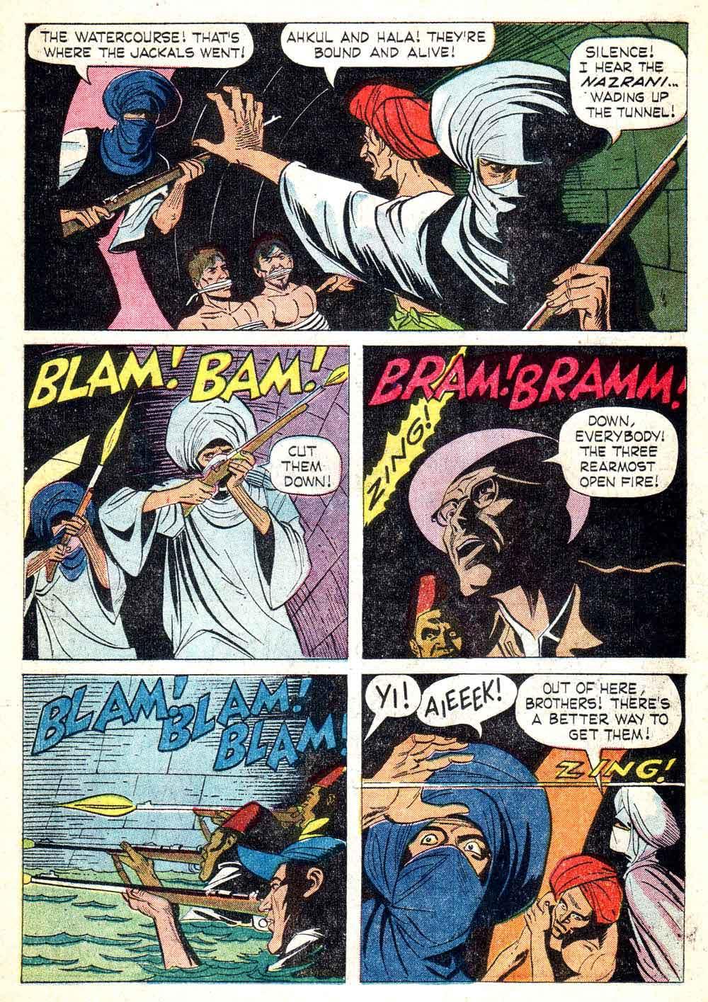 Korak Son of Tarzan v1 #9 gold key silver age 1960s comic book page art by Russ Manning