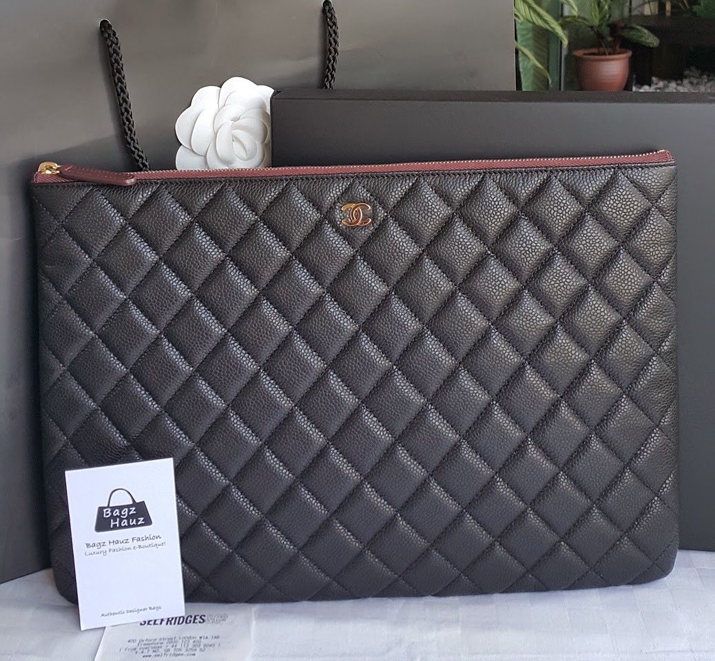 9861b4b66221 CHANEL Large O-Case in Black Caviar GHW ~ For Amanda ~ ♥♥1st time customer♥♥