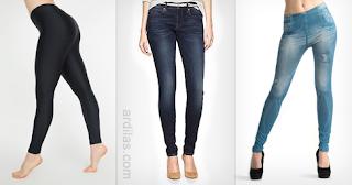 Legging, jeans, dan jegging - Tips & Efek Bahaya Atau Akibat Memakai Celana Yang Ketat
