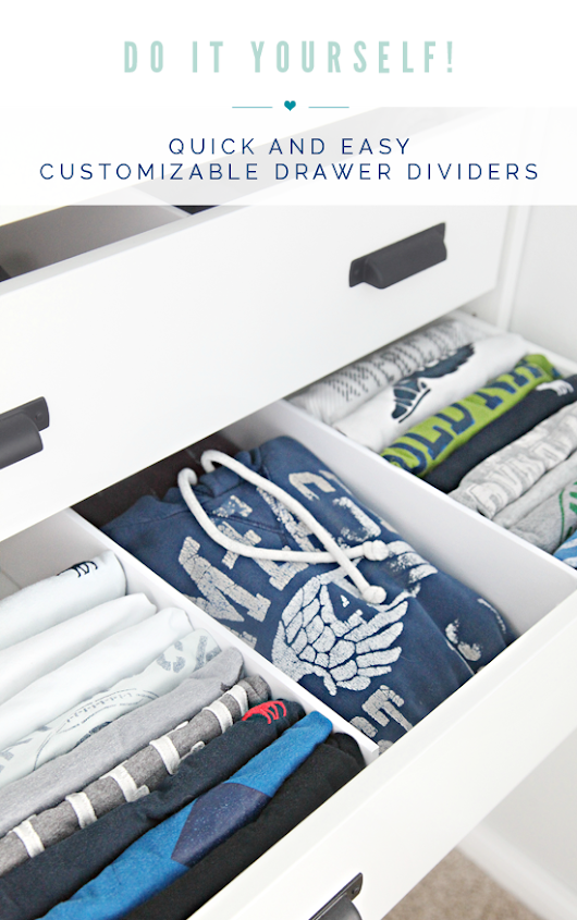 0 Do it Yourself! Quick and Easy Customizable Drawer Dividers