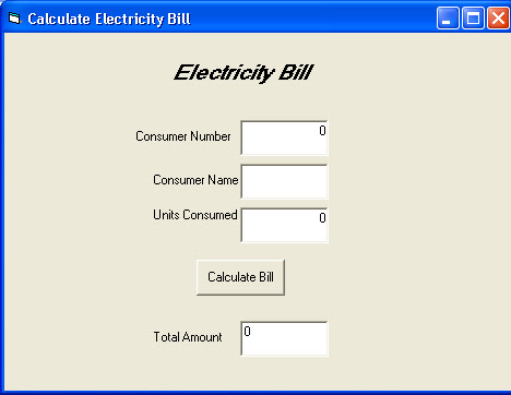 Ignou Vb 45 Calculate Electricity Bill