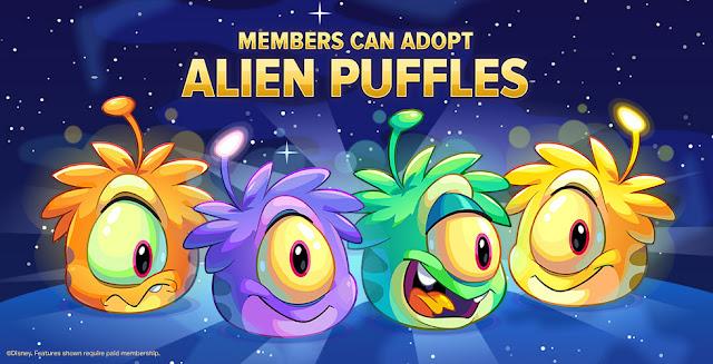 Club Penguin Puffle Alien Noviembre 2015