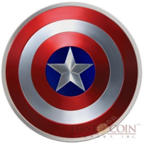 Captain America coin (2 Dollars, 2016) produced by Fiji