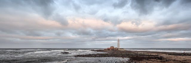 St Mary's Lighthouse at Whitley Bay on the North East Coast