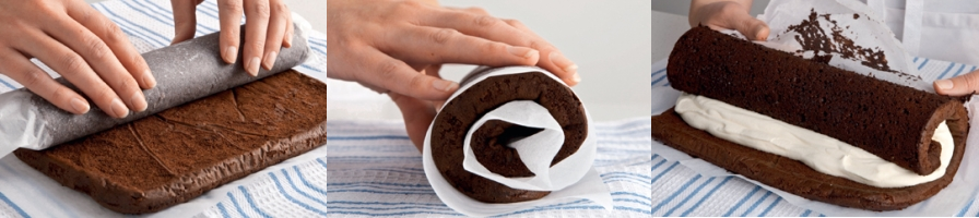 Method For Double Chocolate Roulade