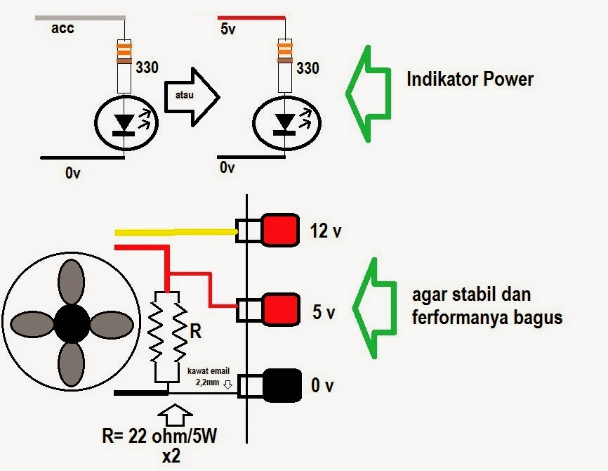 modifikasi power supply komputer
