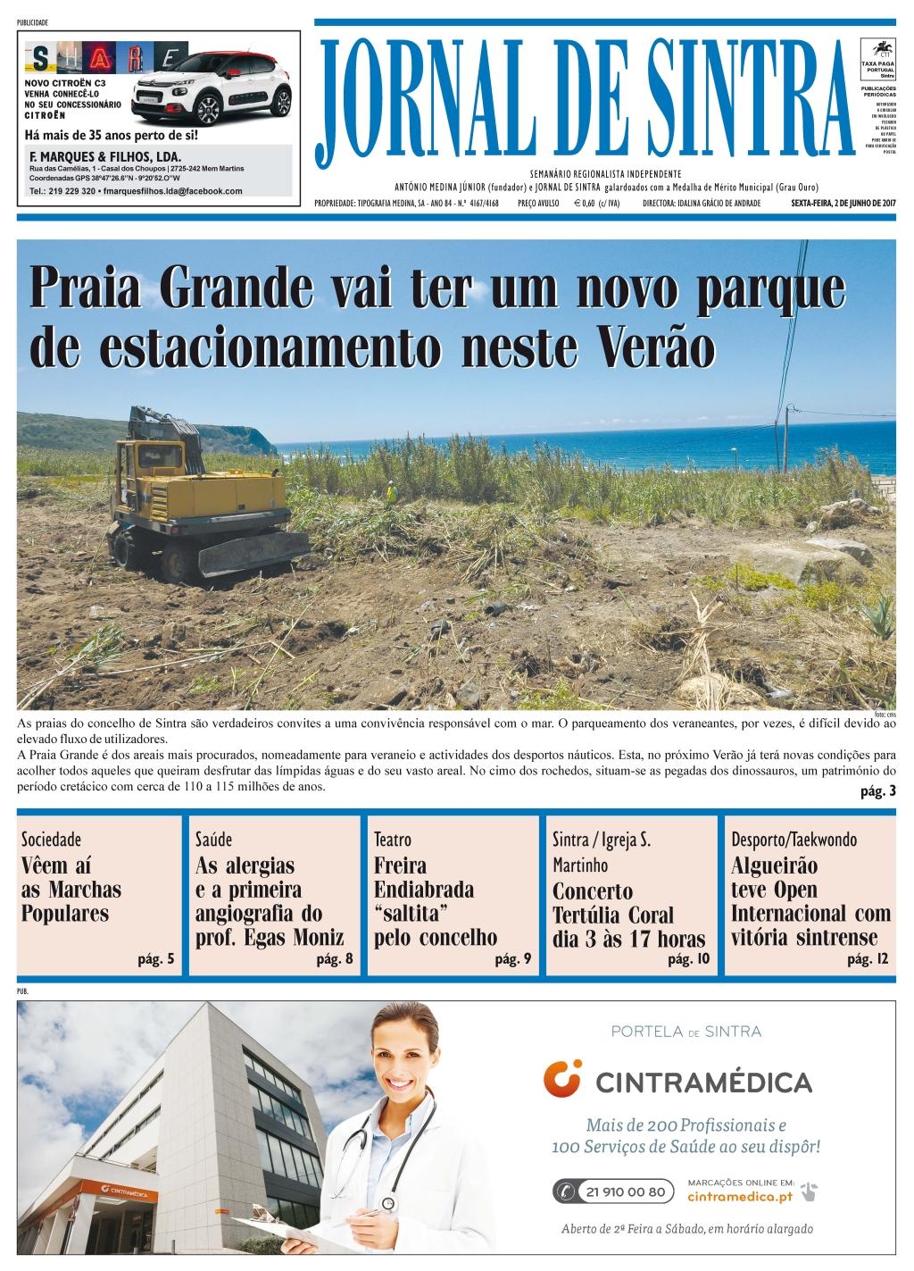 Capa da edição de 02-06-2017