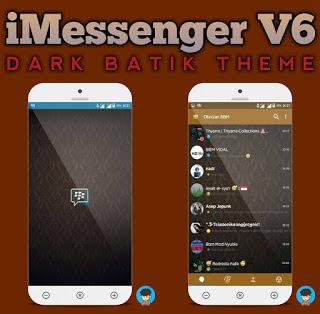 BBM MOD Drak Batik Base 3.0.0.18 Apk BBM iMessenger v6 Terbaru