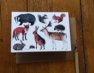 Woodland Animal card by Alice Draws The Line